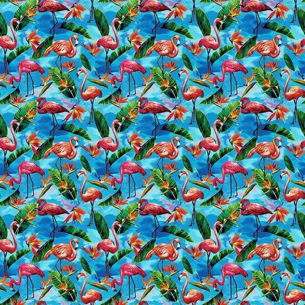 Fabulous Flamingos 208921 Small Blue