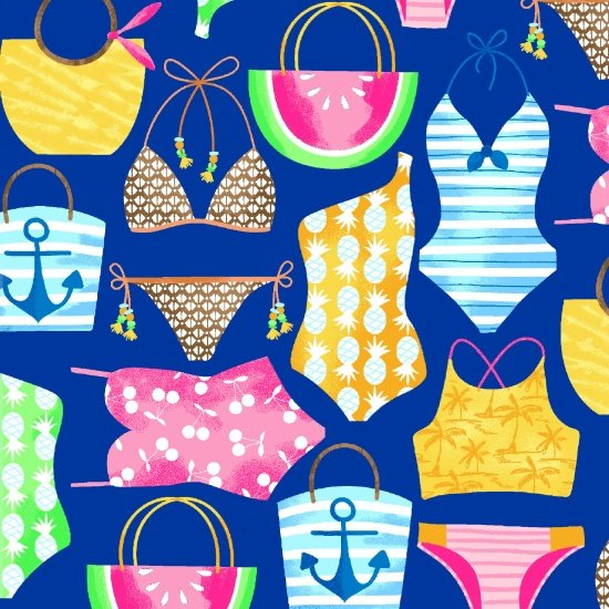 Just Beachy 1221-77 Bathing Suits & Beach Bags
