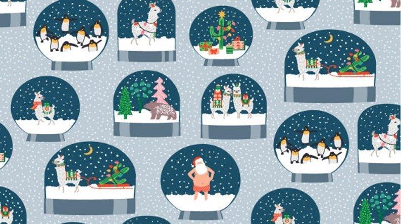 Arctic Snow Globes 1230 Shirtless Santa