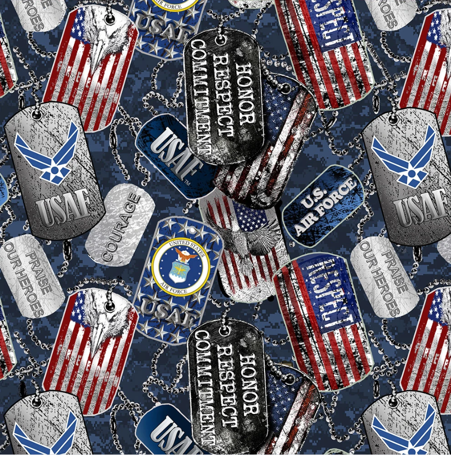 Military 1254 Air Force Dogtags