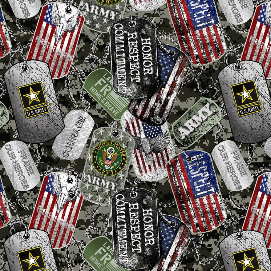 Military 1254 Army Dogtags