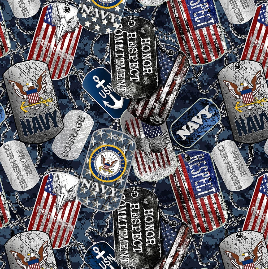 Military 1254 Navy Dogtags