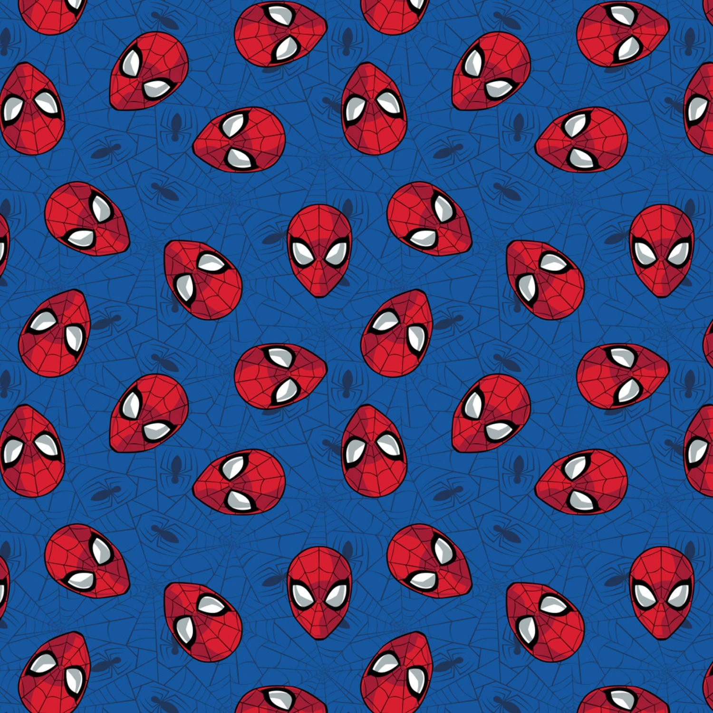 Spiderman 13080018-1 Heads on Blue Web
