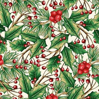 Holiday Holly 2476-33 White