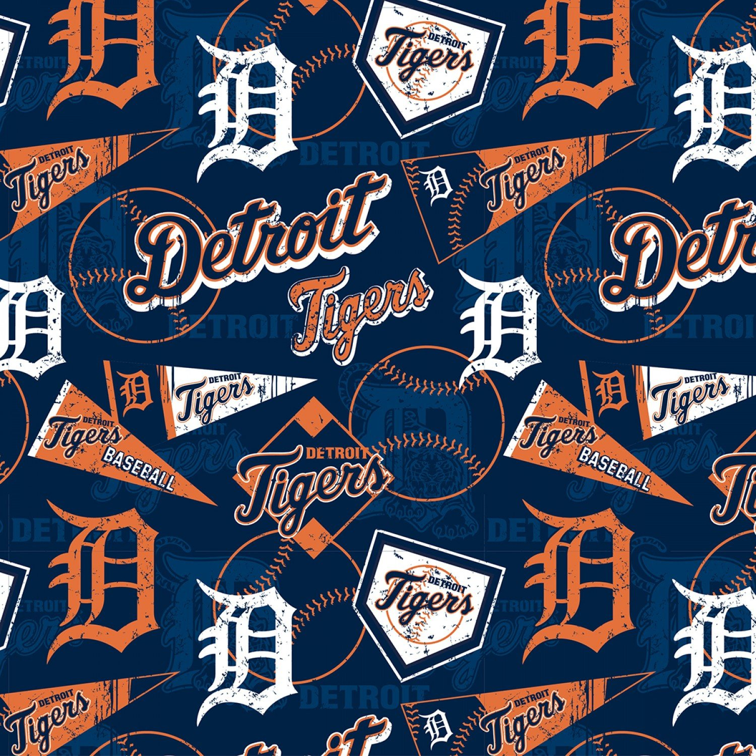 MLB Detroit Tigers 14416B Pennants
