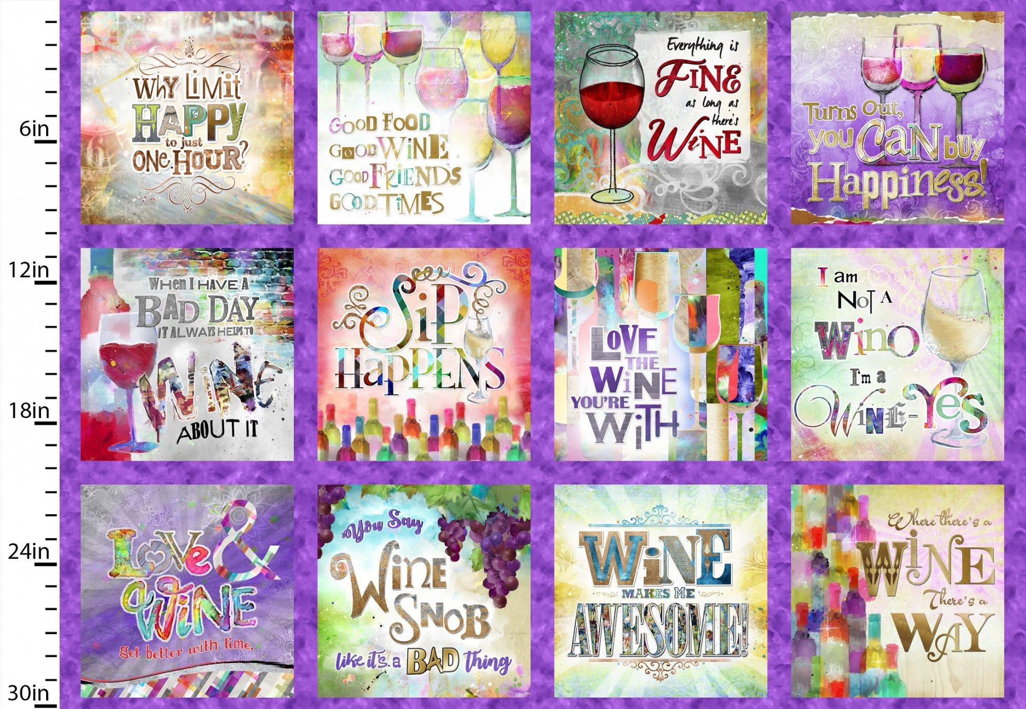 Sip & Snip Wine 14903 30 Panel