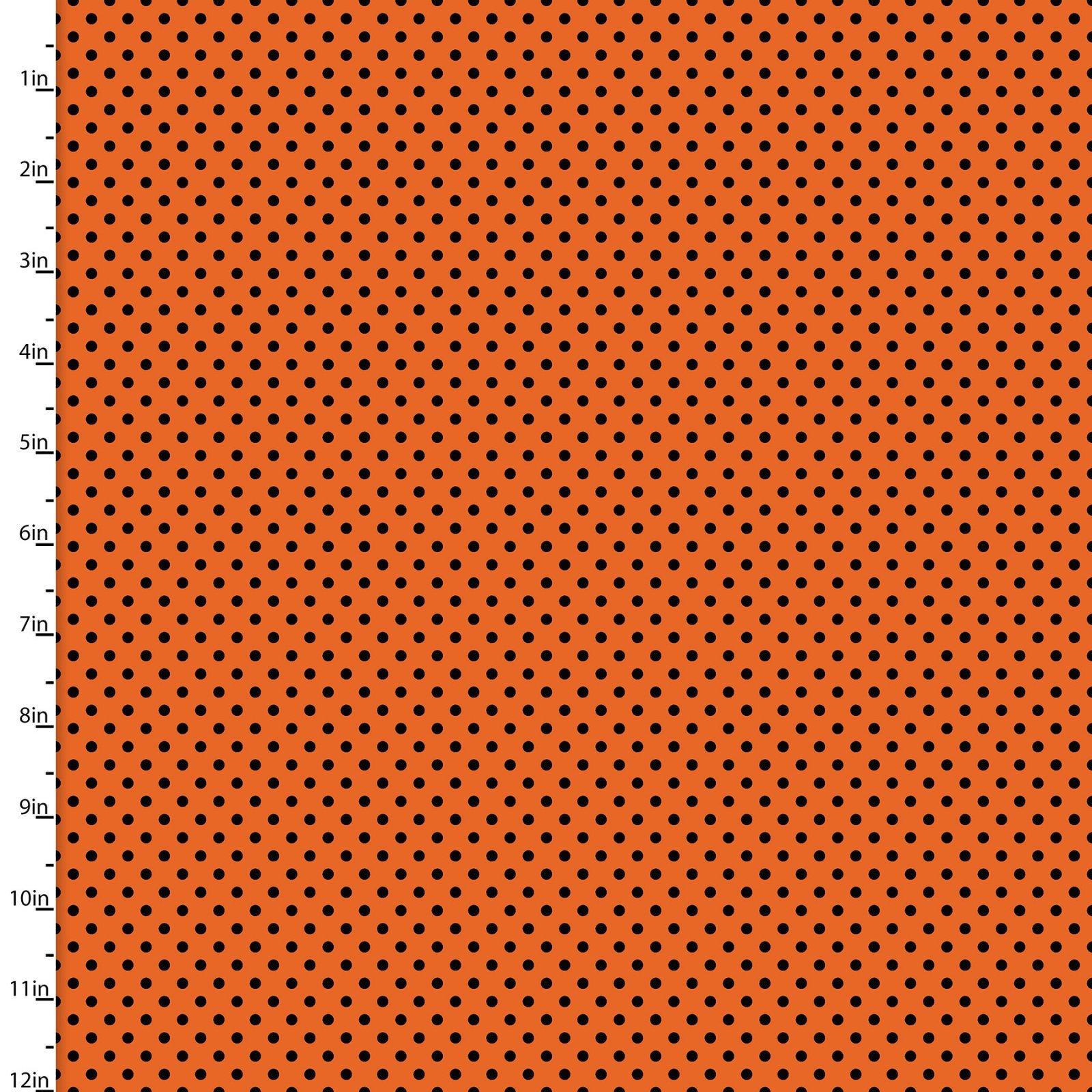 Halloween 15113 Black Dots on Orange