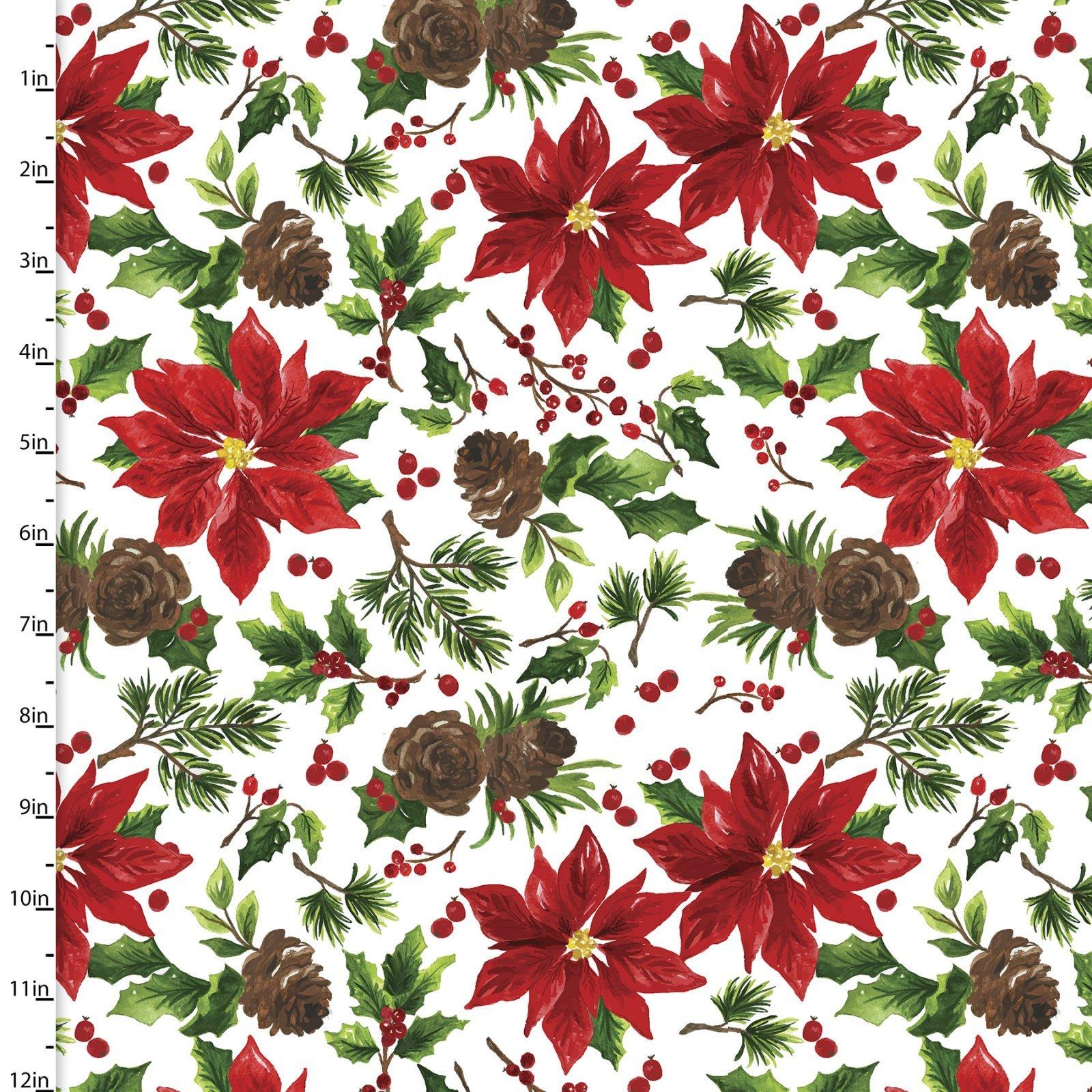 Christmas Floral 15131 Poinsettias