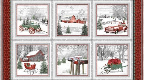 Holiday Homestead 1612-89 24 Blocked Panel