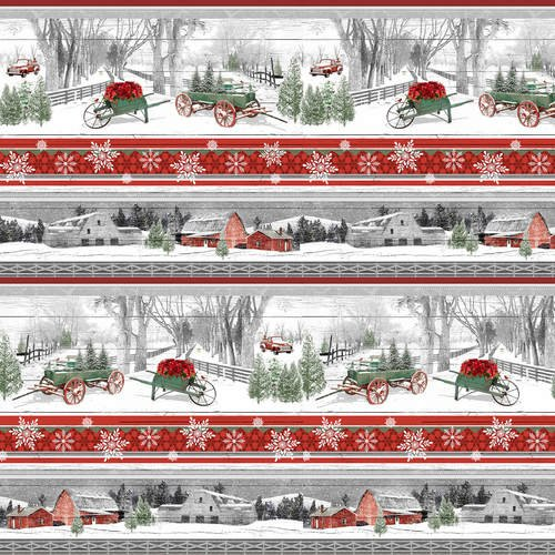 Holiday Homestead 1615-89 Border Stripe