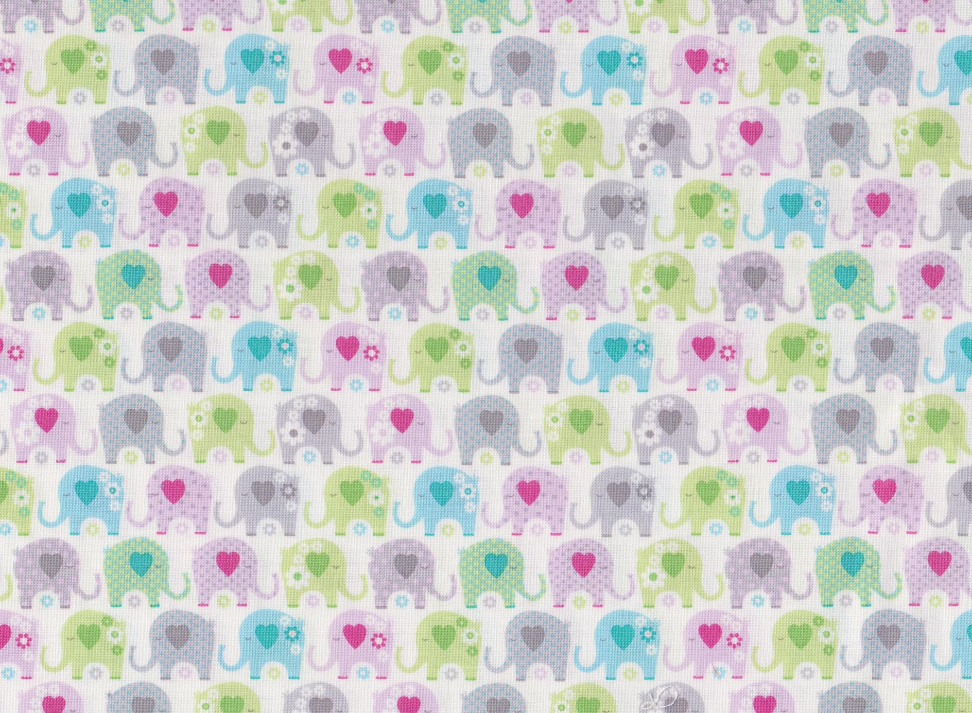 Elephants 16423-A Green