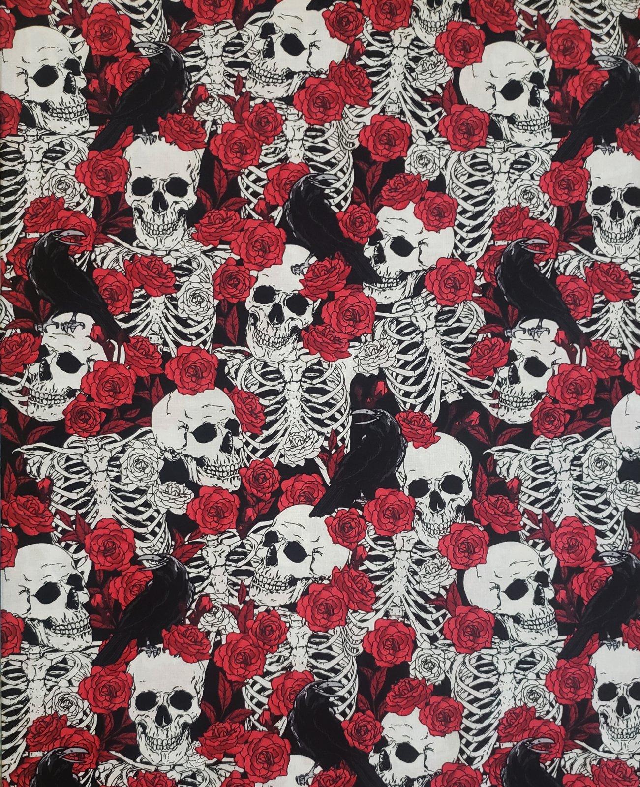 Skulls and Roses 16737 Black