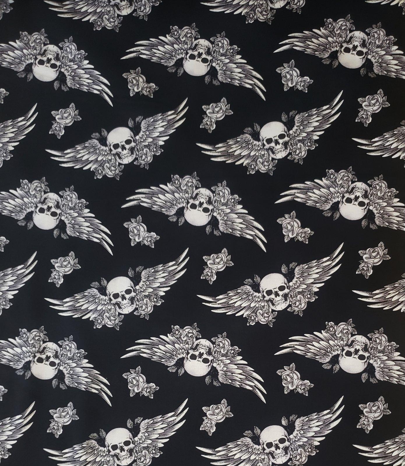 Skulls and Wings 17595 Black