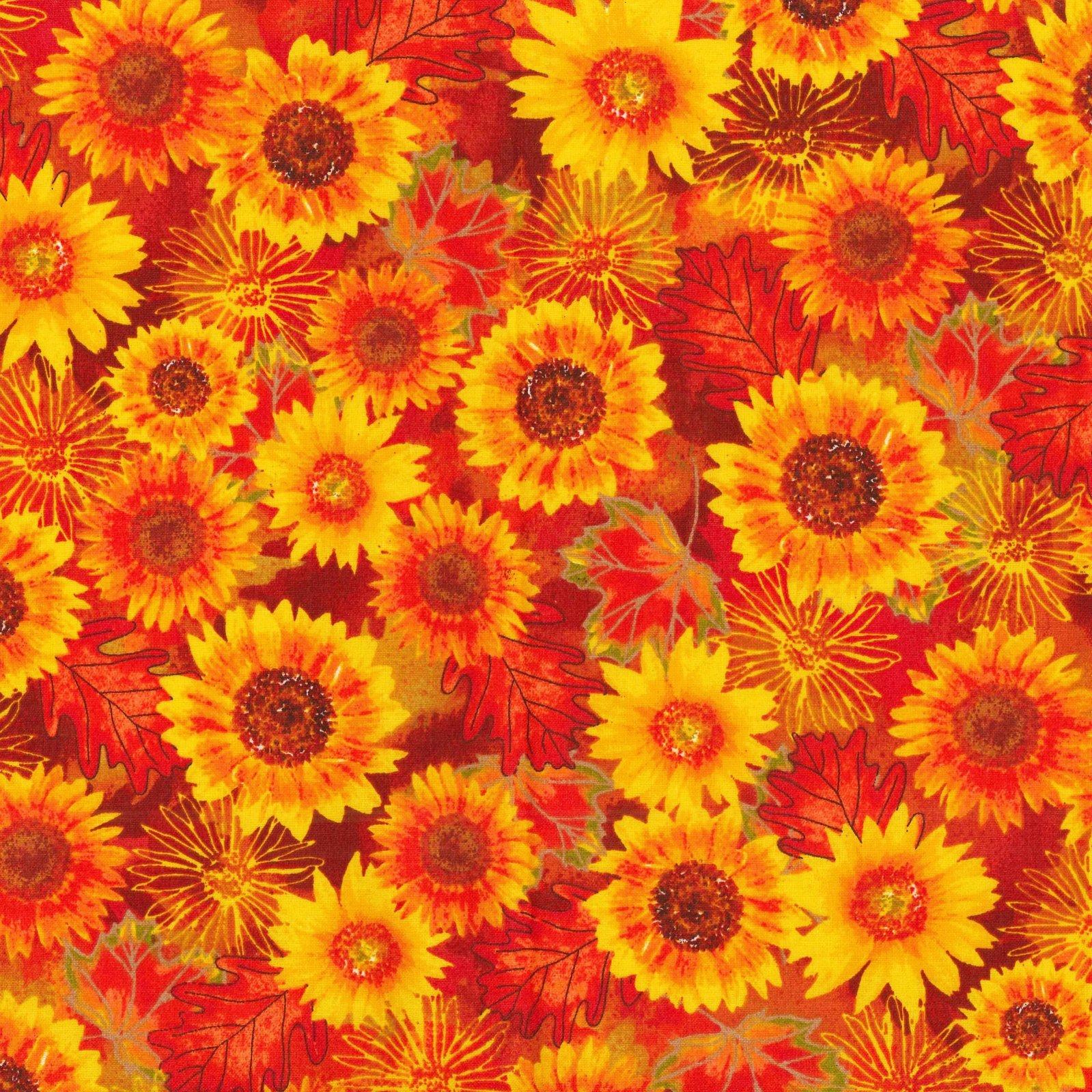 Autumn Flowers 17786 Orange