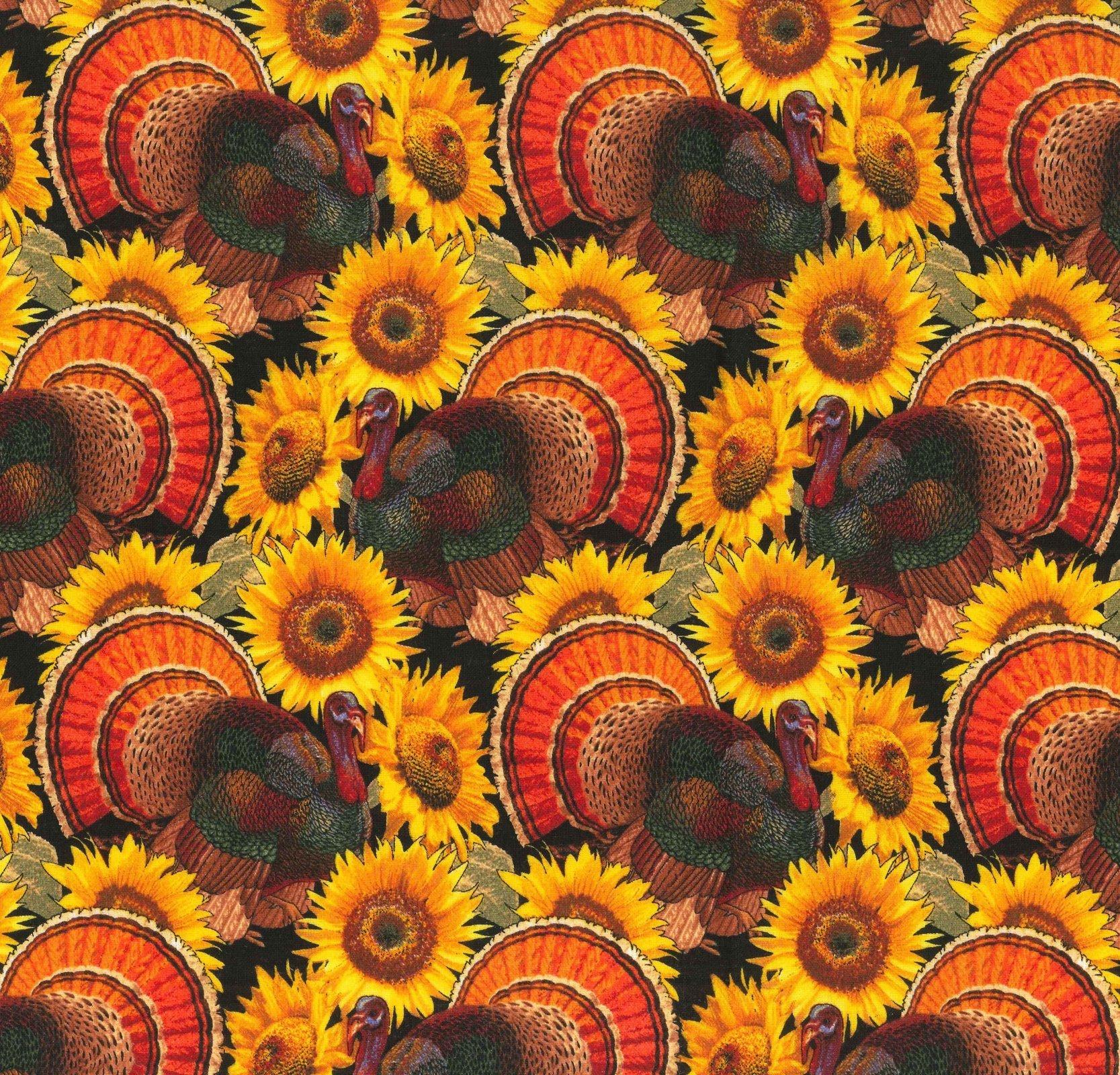 Turkeys & Sunflowers 17813