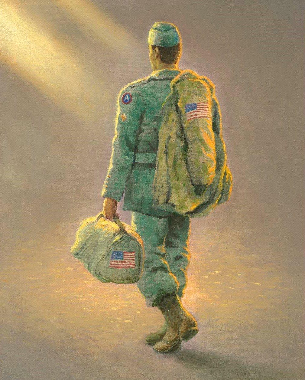 Thomas Kinkade Military Heading Home 2038 Panel