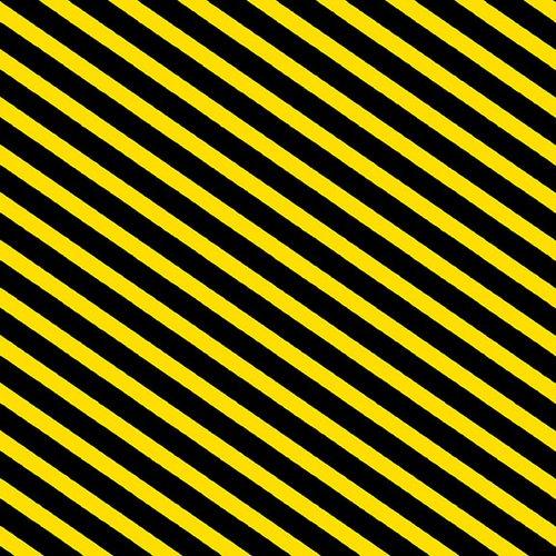 Bias Stripe 2212-33 Black & Yellow