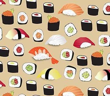 Sushi 22365 Rolls on Tan