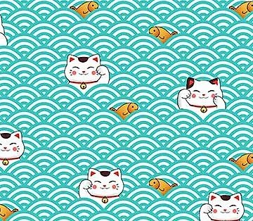 Sushi 22367 Cats & Turquoise Scallop
