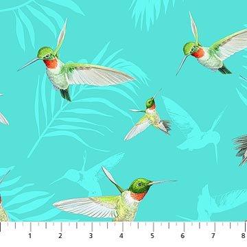Island Sun 22625-64 Hummingbirds Aqua