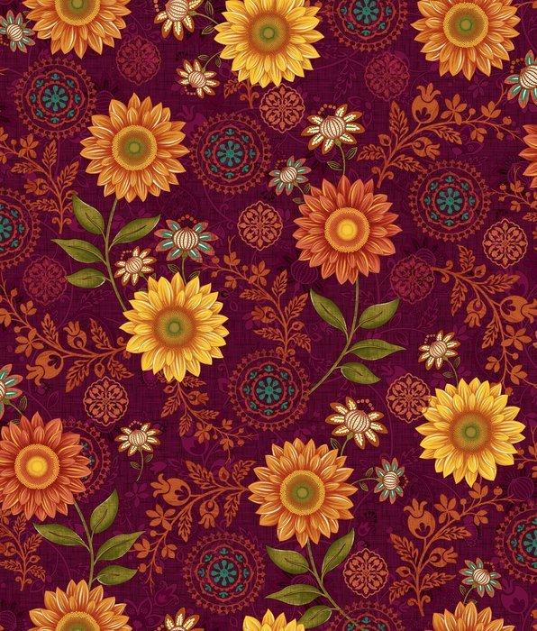 Autumn Elegance 2277-89 Floral Burgundy