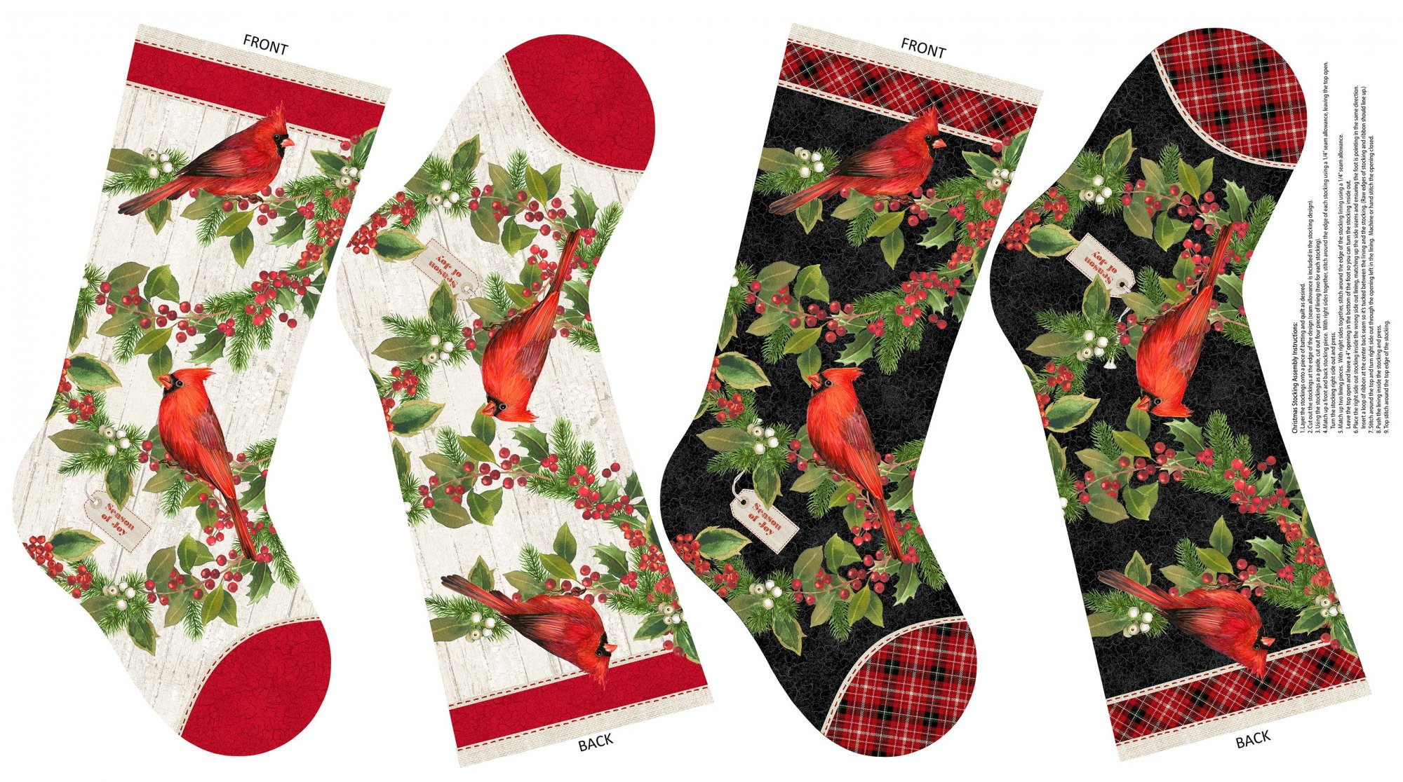 Cardinal Woods 22844-11 Stocking 24 Panel