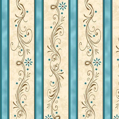 Amazing Grace 24046-Q Scroll Stripe Turq