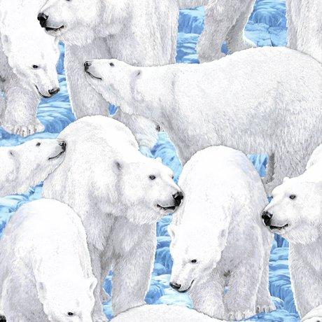 Northern Lights 24424-B Polar Bears Light Blue