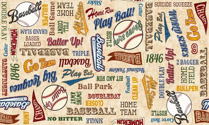 Grand Slam Baseball 24911 E Words Cream