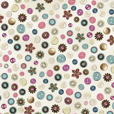 Cute As A Button 24831E Buttons Ecru
