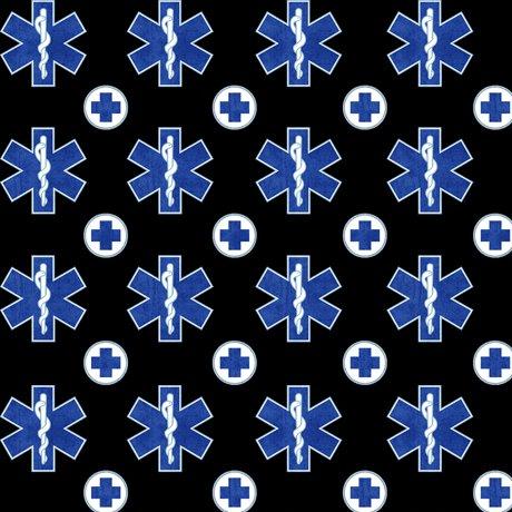 Medical EMS Symbols 24925-J Black