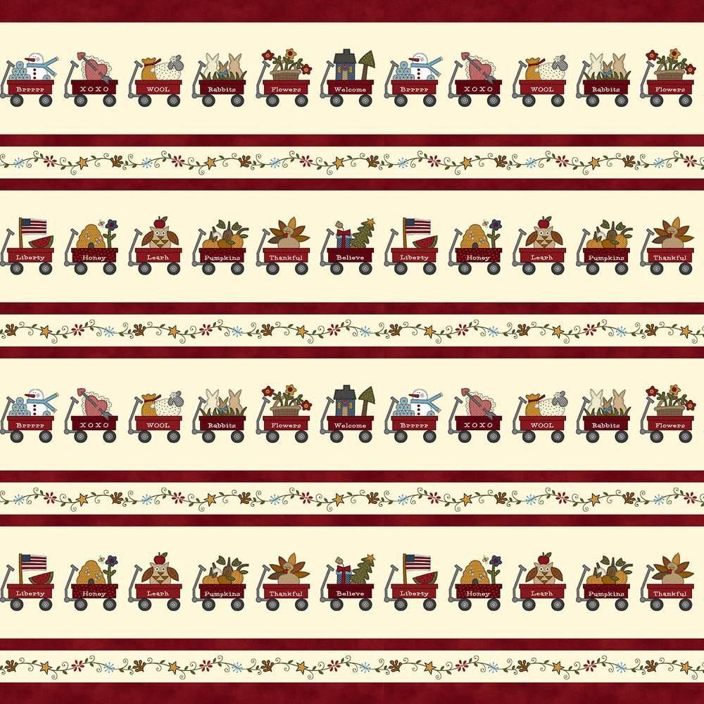 My Red Wagon 2556-88 Border Stripe