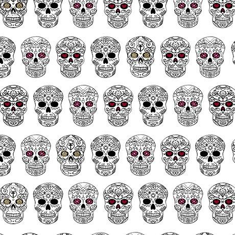 Sweet Rebellion Skulls 25766 Z White