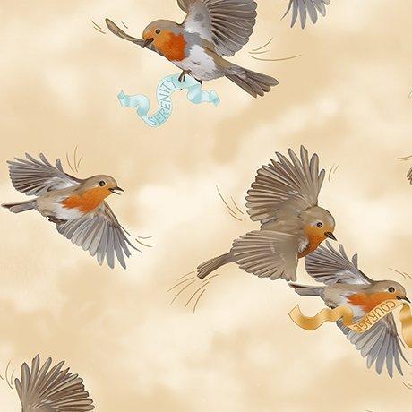 Serenity Prayer 25825E Cream Birds