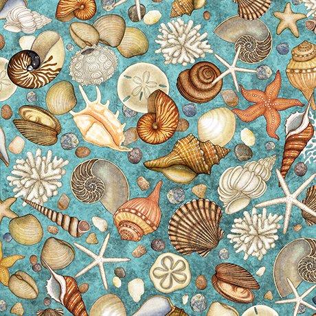 Ocean Oasis 25833 Q Shells Turq