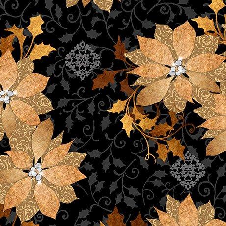 Golden Holiday Poinsettia 25957J