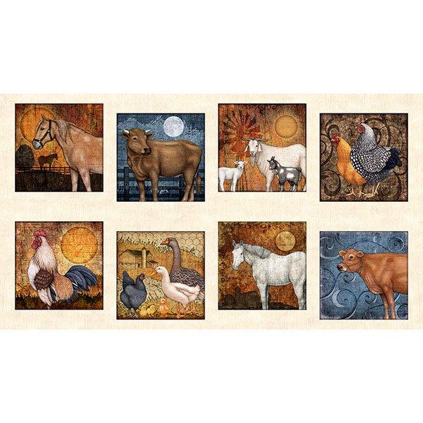 Bountiful Farm Animal Panel 25976E Cream