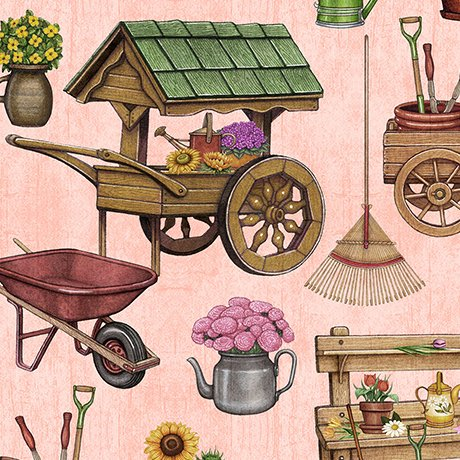A Gardening We Grow 26495-C Garden Carts & Sheds