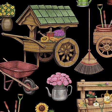 A Gardening We Grow 26495-J Garden Carts & Sheds