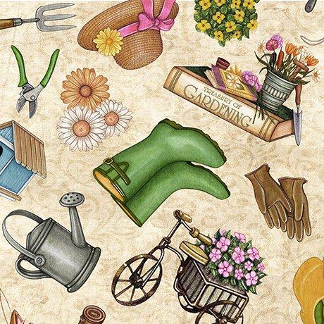 A Gardening We Grow 26496-E Gear on Cream