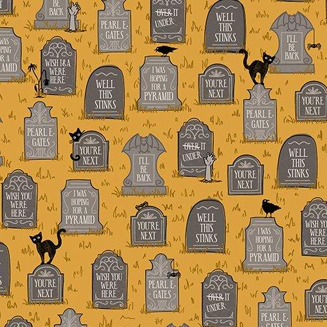 BOOS & GHOULS 26564-S Gravestones Yellow