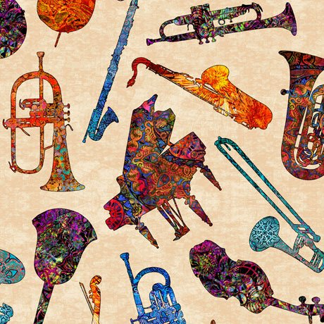 Fine Tuning Music 26846-E Batik Instruments Cream