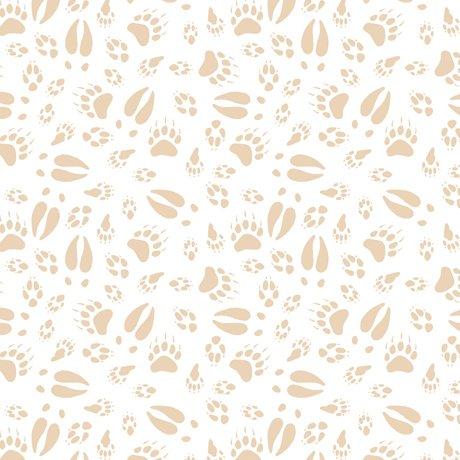 North Woods 26856-Z Tracks Cream/White