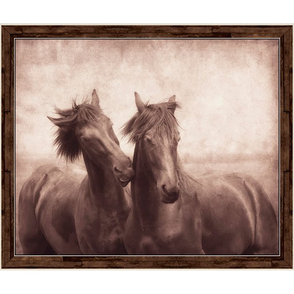 Horses 26860-A Panel Brown