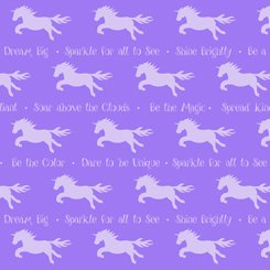 Party Like A Unicorn 26913-V Sayings Violet