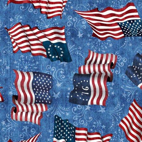 American Pride 26975-B Flags on Blue