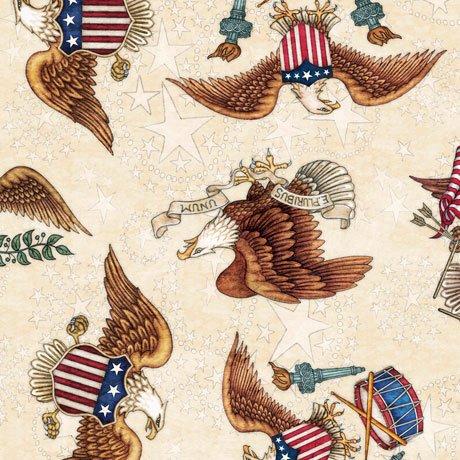 American Pride 26976-E Eagles on Cream