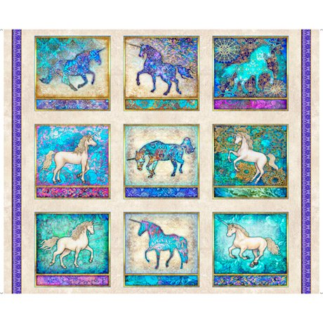Mystical Unicorns 27376-E Panel