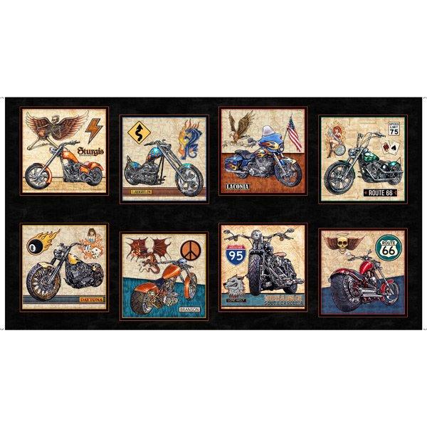 Easy Rider Motorcycle 27480-J Black Panel