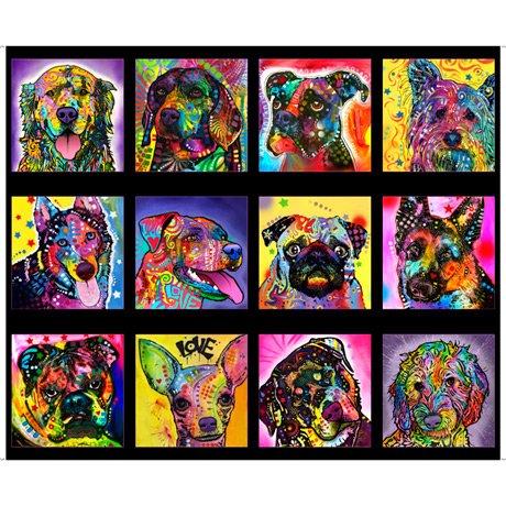 Doggie Daze 27957-J 12-Block 36 Panel